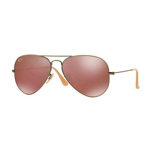0RB30251672K58: Ray-Ban Aviator Sunglasses - Red Mirror